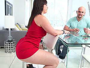 A stunner with a nice big butt gets fucked hard and cums