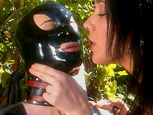 A mistresses uses fuck sticks to penalize all of her g/g marionette's crevasses
