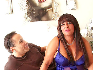 A curvy Cougar with monster tits gets fucked by a junior dude