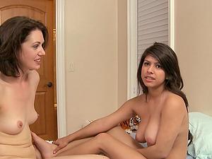 Sarah Shevon and Layla Rose converse after having girl/girl lovemaking