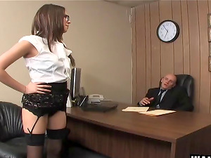 Assistant Missy Stone invites her chief to fuck her asshole