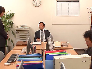 Immaculate Japanese wifey gags on her hubby's big shaft
