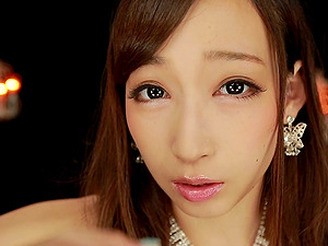 Virtual milking and beaver taunt have fun from a Japanese beauty