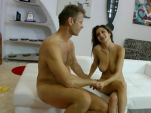 Alice Romain cleans a big manstick fresh from her asshole