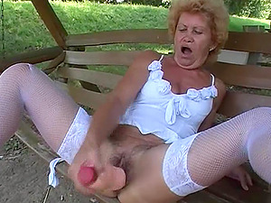 Old granny has never been this horny and in need of hook-up