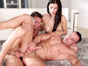 Bisexual superstars fucking xxx in a kinky mmf threesome