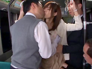 A sex-positive Japanese exhibitionist loves to fuck on public busses