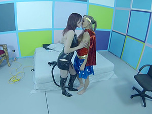 Superhero tramps with lean bods pleasure his dick in Point of view