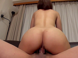 Pretty Asian damsel takes two guys at once and is packed with dick