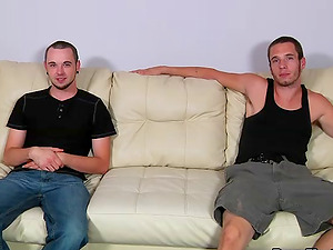 Sexy jocks deep-throating each other's dick and having spunky anal invasion bang-out