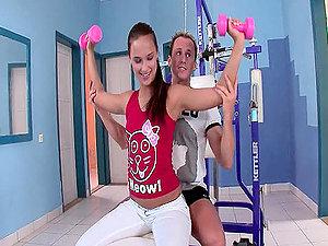 Sexy honey Victoria has a brilliant fuck on the sport equipment