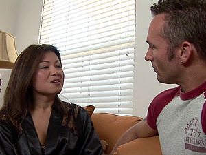 Utter service Asian rubdown female works the bod and the man sausage