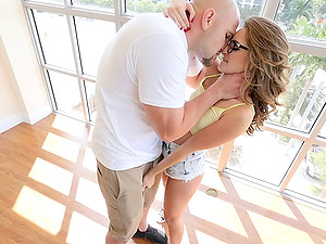 Limber chick in glasses gets fucked by a thick shaft