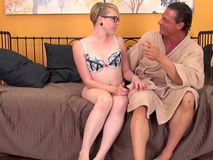 Short-haired pallid dame engages in crazy 69 escapade