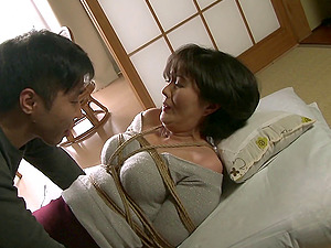 Asian wire restrain bondage where she gets tied up and fucked