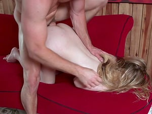 Pretty blonde with a succulent booty needs to perceive the shaft deep inwards!