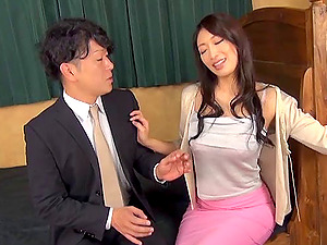 Hot Asian group sex woman with breathtaking faux tits