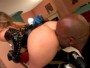 Kinky spandex stunner Devon Lee fucked by a superior black boy