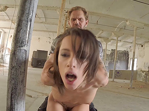 Beauty with a cock-squeezing tattooed figure is crazy for dick inwards her