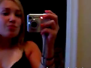 Homemade Point of view of a damsel filming herself when masturbating