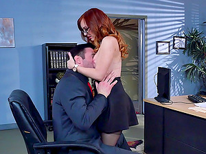 Faux tits fuckslut Dani Jensen fucked in the office