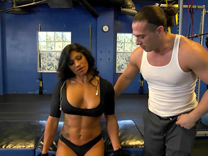 Fit cougar seduced at the gym and fucked in her hot cunt