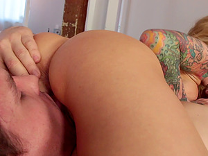 Wicked taut ultra-cutie with tattoos fucked utter of hard-on