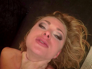 Rough xxx use of a hot blonde on the pool table