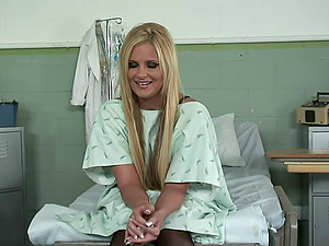 Sexy hospital patient Phoenix Marie fucked in the examination room
