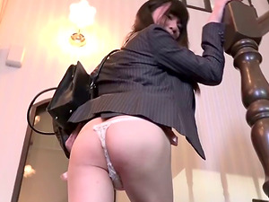 Sexy transsexual bellowing as she enjoyments herself close up