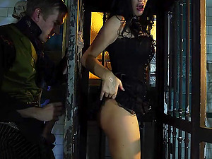 Horny Jasmine Jae practices the rough invasion in the jail