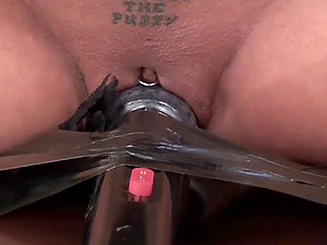 Vixen roped ball-gagged spanked whipped nipple-clamped vibed