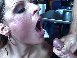 Buxomy Mom Madison Peet Having Romp In a Public Restaurant