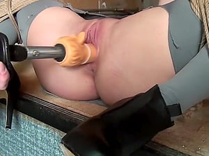 Ally Trussed Whipped Dildoed Vibed Machine-Fucked