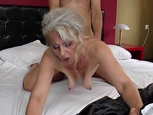 Supah hot granny stunner entices the fellow to get it on