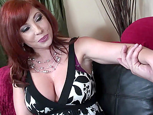 Red-haired Mom Brittany O'Connell Pierced Snatch In Sexy Stockings Fucked