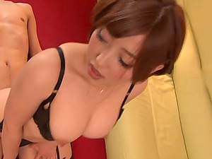 Ideal Japanese bod on a xxx stunner in black stockings