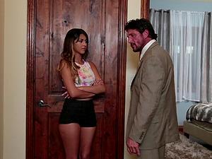 Older man dick fucks up into the raw cunt of Sophia Leone