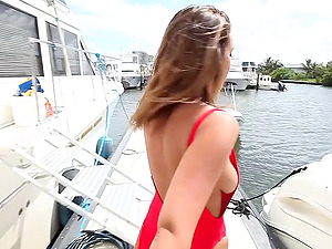 Getting penetrated on the luxurious yacht is just what Layla needed