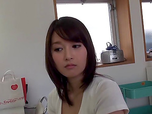Fetching and lovely Japanese chick and three very horny guys