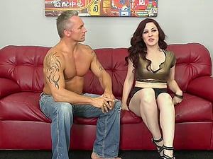 Smoking hot ginger-haired has her hirsute pink slit hammered with a big dick