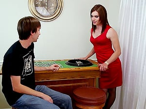 Sexy Miranda Meadows is a shemale who loves to suck the dick