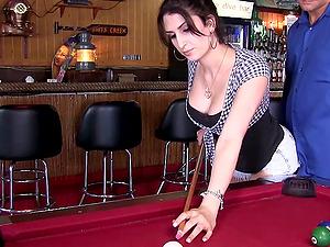 Even tho she's a shemale Jenny rails nicer than the femmes do!