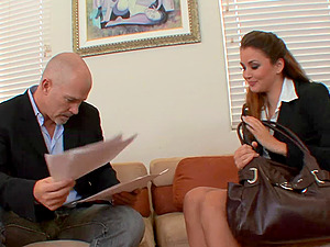 Lawyer in training Allie Haze  gets accurately pleasured