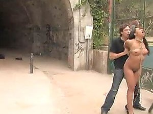 Naked honey Blows a Shaft in Public