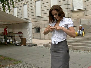 Best Public Restrain bondage Humilation Featuring Hot Brown-haired