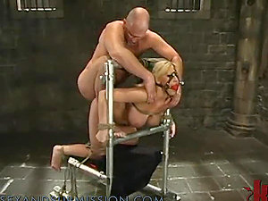 Chesty Blonde Gets a Treat in the Dungeon space