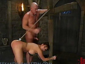 Dark-haired Gets a Hot Torment in the Basement