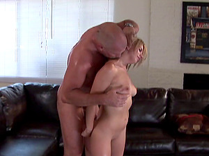 Servant Lexi Belle and a thick sweaty stud have excellent romp