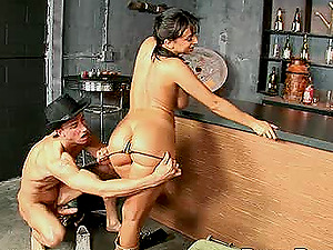 Irresistible stunner with big naturals Ricki Milky gets her twat plowed